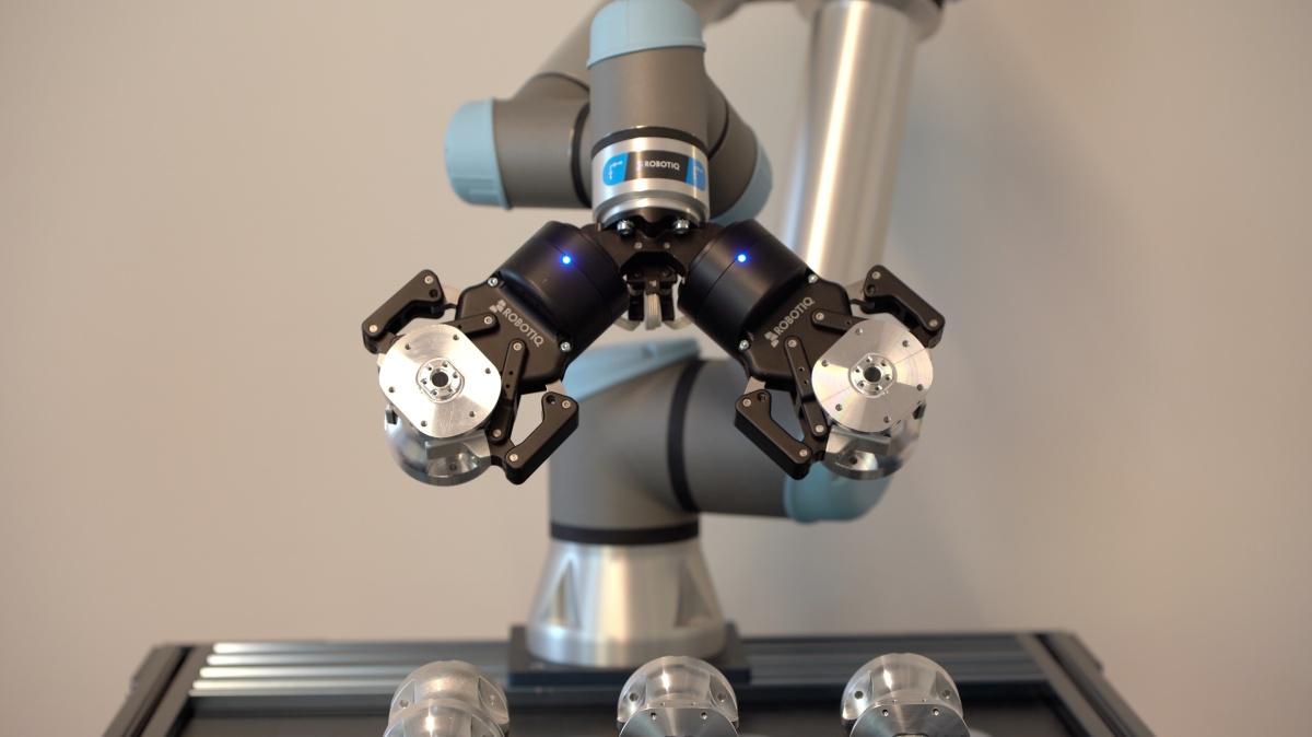 Двойное крепление для захватов Robotiq-5